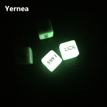 One Pair For Sale 16mm Luminous Spice and White English Combination Dice Sexy Toy Couple Foreplay Erotic Brial Gift Yernea