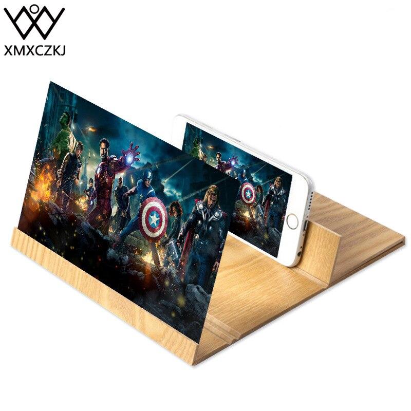 XMXCZKJ Desktop Handy Bildschirm Vergrößern Lupe 3D Video Verstärker Folding Stehen Für Smartphone Vergrößert Expander Halter