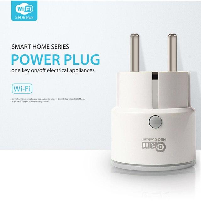 Coolcam enchufe inteligente de apoyo de la UE Alexa de Amazon, Google a casa IFTTT Control remoto WiFi interruptor Mini toma de corriente con función de sincronización