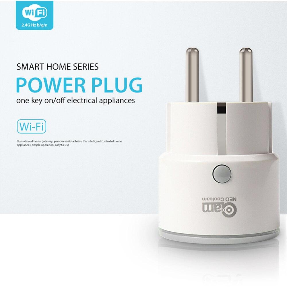 Coolcam enchufe inteligente de apoyo de la UE Alexa de Amazon, Google a casa IFTTT WiFi Control remoto interruptor Mini salida con función de temporización