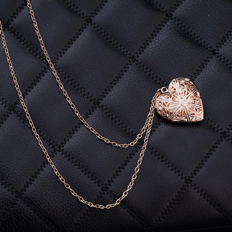 N830 Hollow Heart Pendant Necklaces Fashion Jewelry LOVE Collares Geometric Charm Necklace Bijoux NEW Arrival 18 3