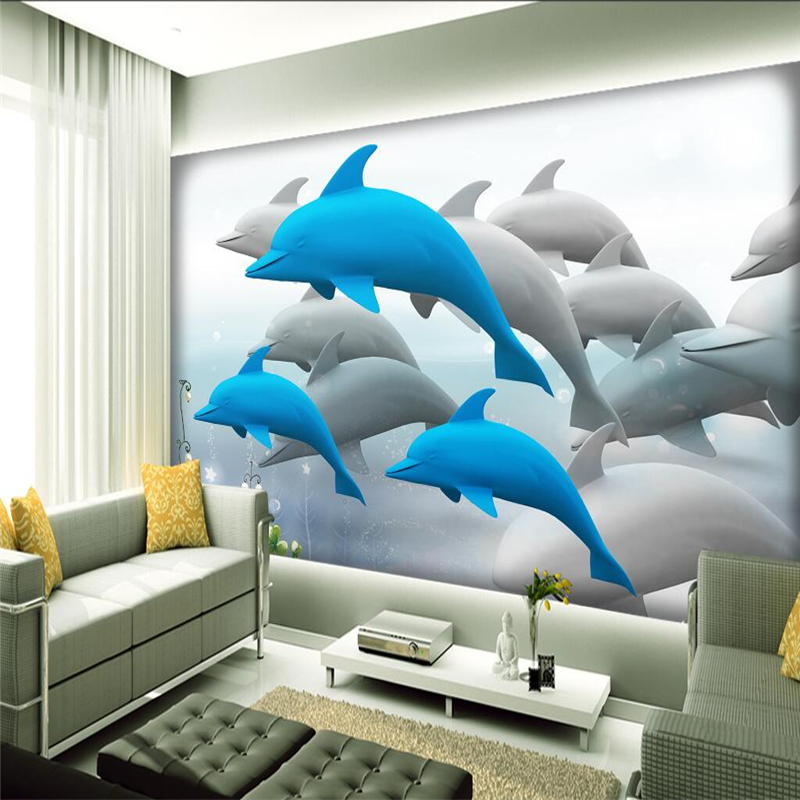 3d Wall Covering Beautiful Underwater World Custom Photo Wallpaper for Kids Environment Friendly Embossed Wall Paper Wall Mural customize photo wallpaper murals slovenia lake 3d embossed wallpaper environment friendly tv background wall paper for kids room