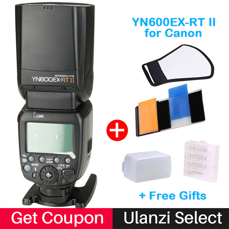 YongNuo YN600EX-RT II Wireless TTL Flash Speedlite for Canon 600D 5D3 750D DSLR Camera Support YN-E3-RT Flash Trigger yn600EX-rt 5 chic chefs horizontal ceramic knife white black 13 3cm blade
