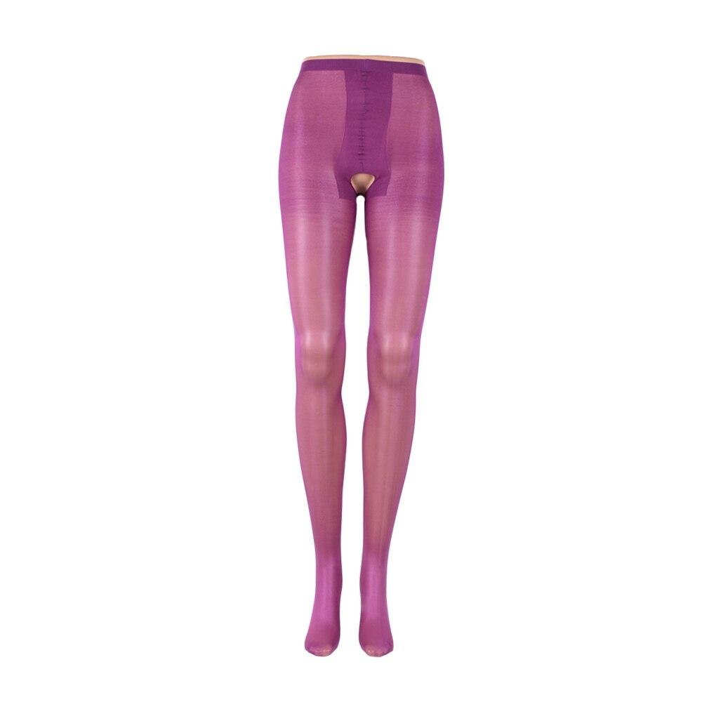 1 Pc Frauen Mode Sexy Öl Glänzenden Glänzend Weibliche Öffnen Gabelung Körper Leggings Lingerie Solide Farbe Körper Leggings Reisen