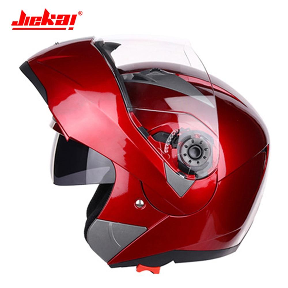 JIEKAI Motorcycle Helmet Motocross Helmet Chopper Capacetes De Motociclista Flip Up Helmet Casco Moto Racing Motorbike