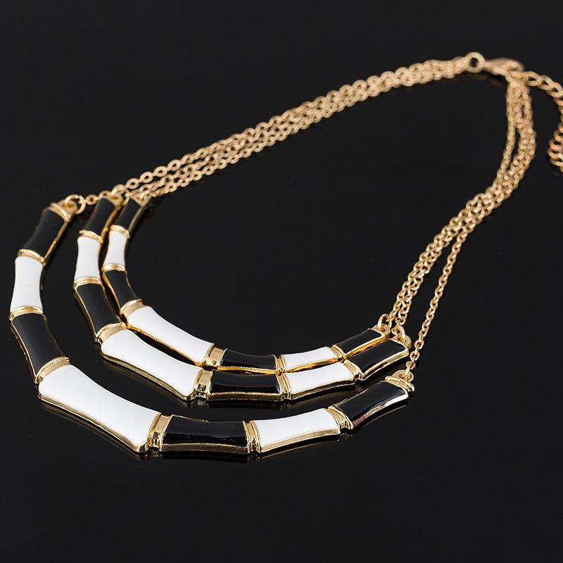 Vruće popularni pojedinačni dizajn crna emajla, elegantna zlatna - Modni nakit