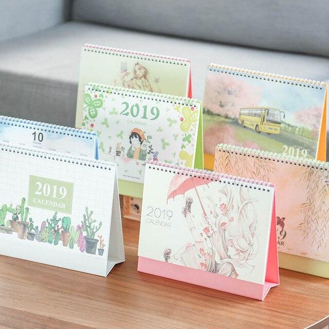 2019 Chinese Ancient Watercolor Series Desk Calendar Diy Cartoon