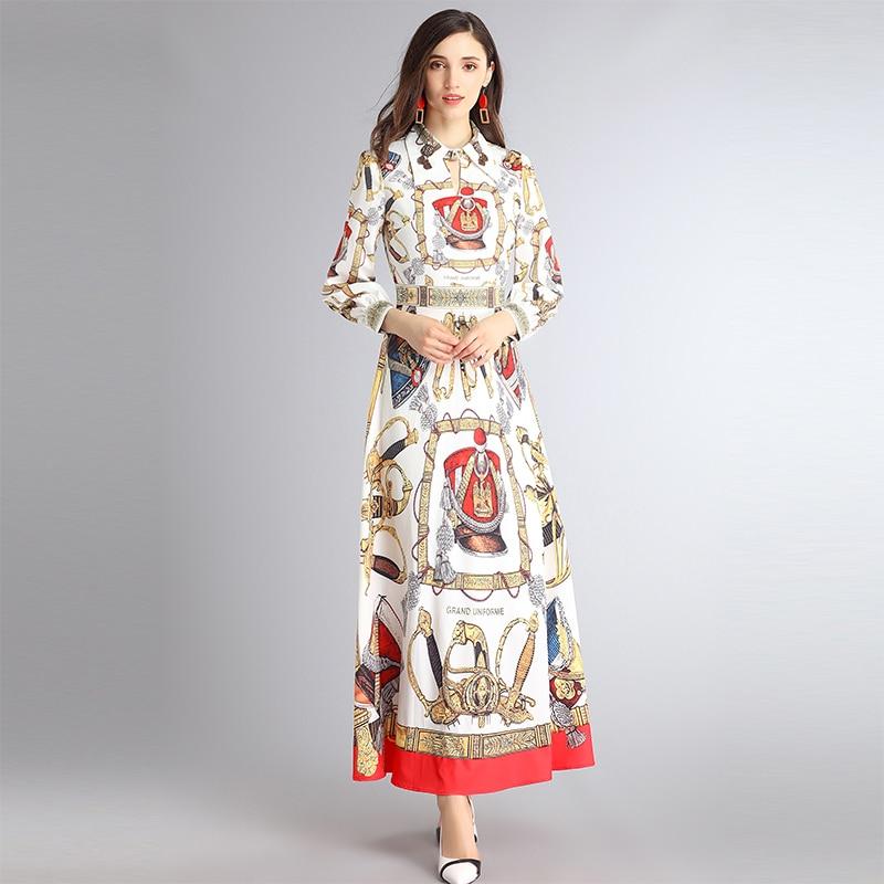 2018 Jolie Douce Femmes Turn down Robe Pleine Mince Imprimer Mode Nouveau Femme De Manches Qualité D'été Haute Col rUwqa5rFxn