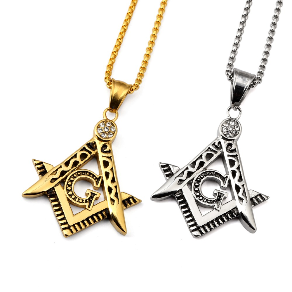 High quality 2017 new titanium steel free mason masonic pendants high quality 2017 new titanium steel free mason masonic pendants charm bling compass g chains hip hop jewelry fashion necklaces in pendant necklaces from aloadofball Gallery