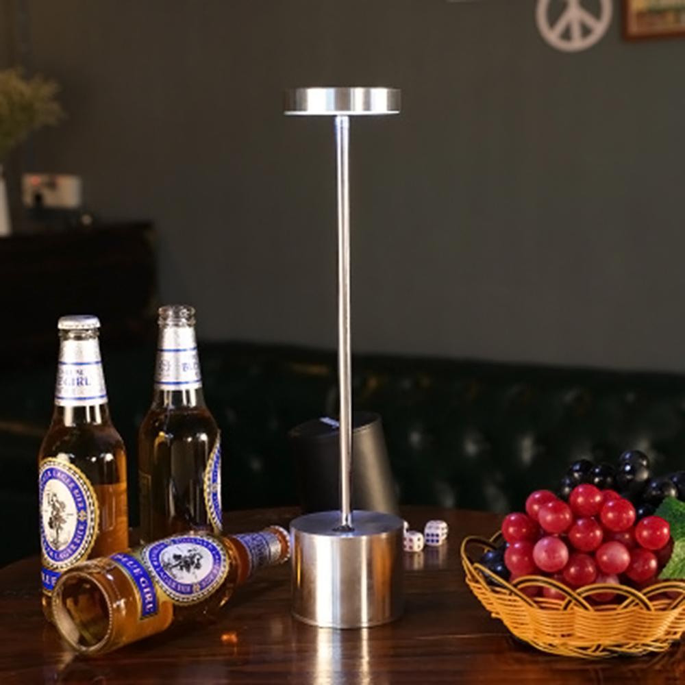 LED Table Lamp Modern Restaurant Dinner Light USB Rechargeable Creative Lighting Decor For Bar Hotel Dinning Room Waterproof 3