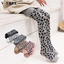 Spring Autumn Tights For Girls Children Leopard Pantyhose Cotton Girls Stockings Toddler Tights Kid Underwear