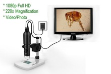 Buy 1080P Full HD Digital Microscope, HDMI Microscope, 10x-220x magnification, to Any Monitor/TV with HDMI-In, Photo Capture
