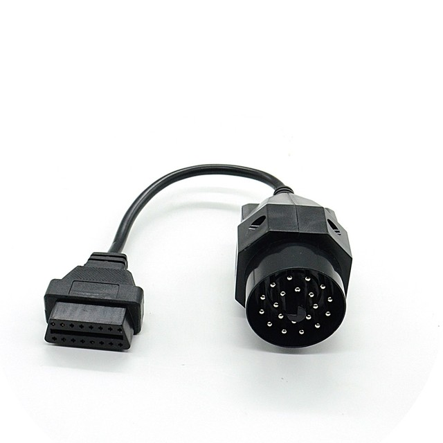 1Pc OBD OBD II Adapter for BMW 20 pin to OBD2 16 PIN Female Connector e36 e39 X5 Z3 for BMW 20pin Newest Free Shipping