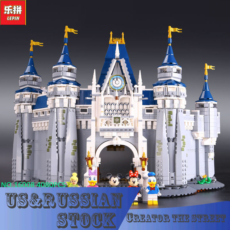 LEPIN 16008 Creator Cinderella Princess Castle City 4080pcs Model Building Block Children Toy Gift Compatible 71040 new lepin 16008 cinderella princess castle city model building block kid educational toys for children gift compatible 71040