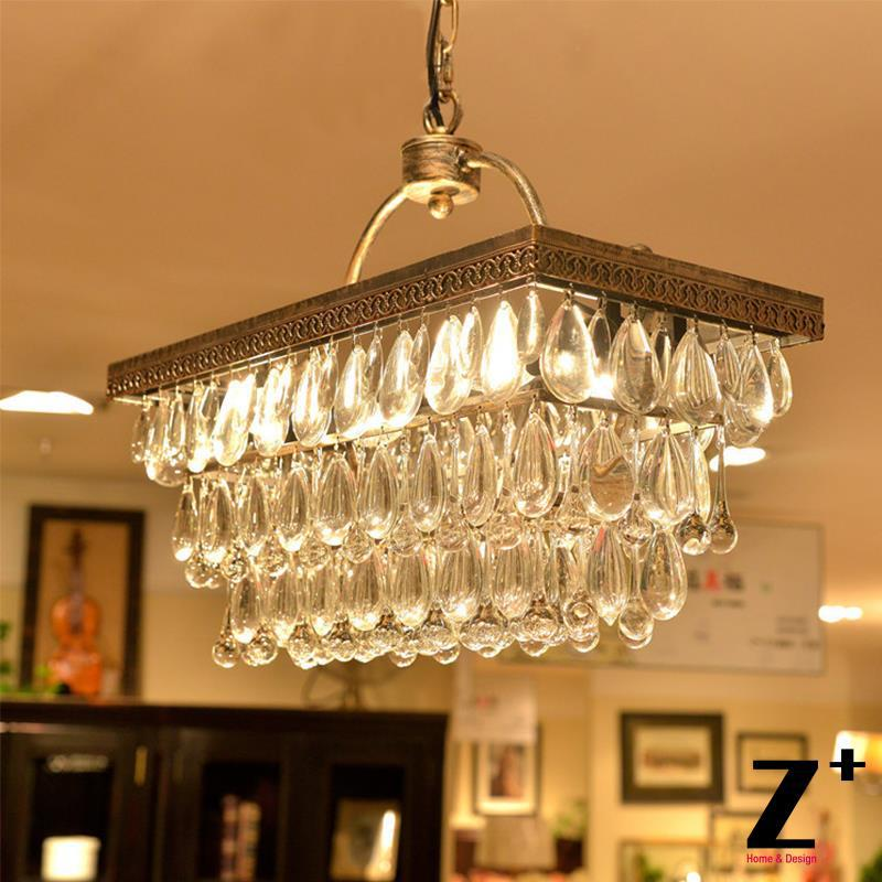 Replica item American Country Style Vintage CLARISSA CRYSTAL DROP EXTRA-LONG RECTANGULAR CHANDELIER wrought rion free shipping replica item american style replica riveted mesh rectangular edison industrial lamp free shipping