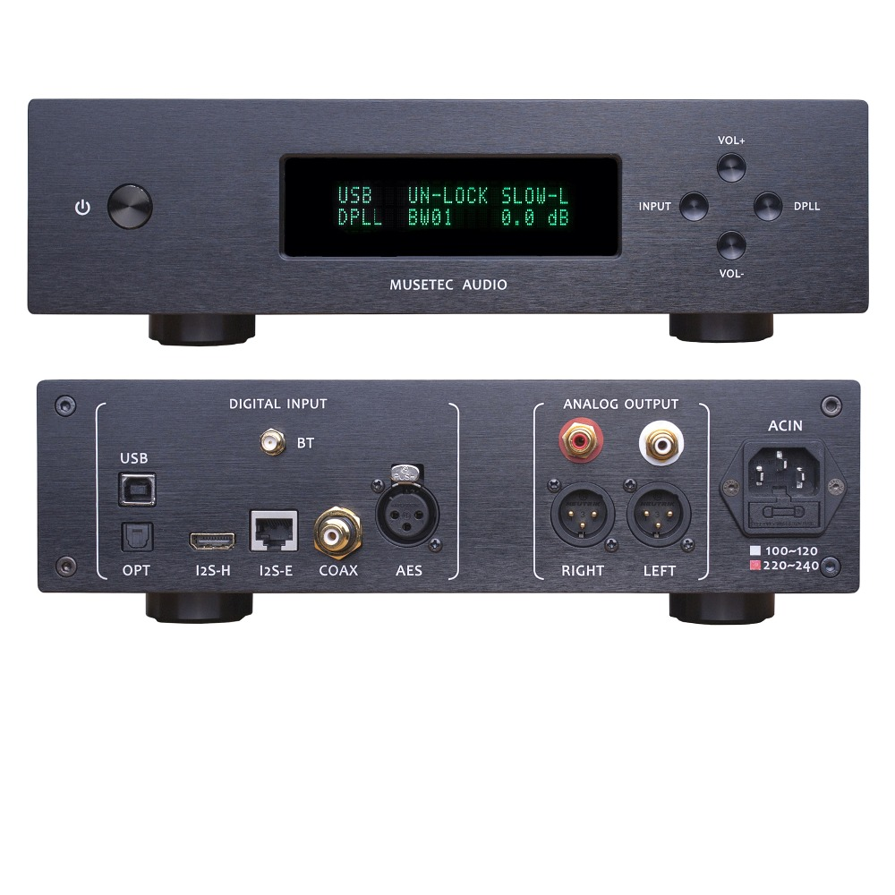 L.K.S MH DA004 MINI ES9038pro DAC USB DSD Crystek CCHD575 Clock XLR PCM and DSD decoding USB/Optical/I2S/AES/EBU/COAX