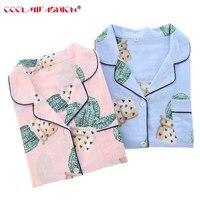 Pajama Sets Women Cute Prickly pear Print 2 Pieces Set Spring Autumn Long Sleeve Elastic Waist Cotton Lounge pijamas sleepwear