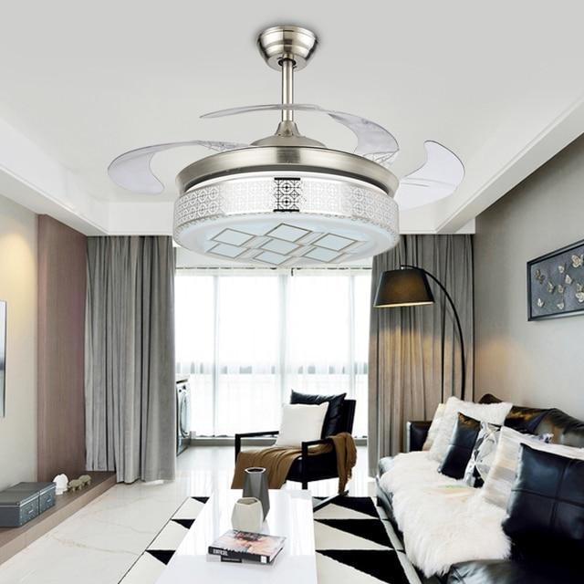 Eenvoudige LED Plafond ventilator verlichting onzichtbare plafond ...