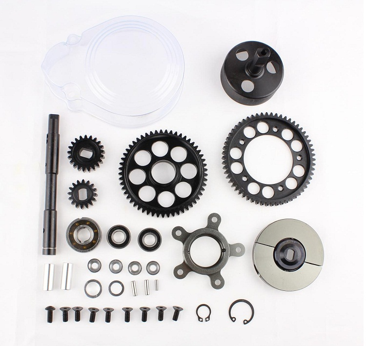 1/5 rc car racing parts,2 speed transmission set fit HPI Rovan Baja 5B KM truck free shipping 85179 rovan gas baja 30 5cc 4 bolt chrome engine with walbro carb and ngk spark plug for 1 5 scale hpi km losi rc car parts