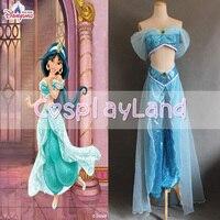 Новое поступление индивидуальный заказ Алладин Принцесса Жасмин косплэй костюм для взрослых индивидуальный заказ Жасмин платье принцессы
