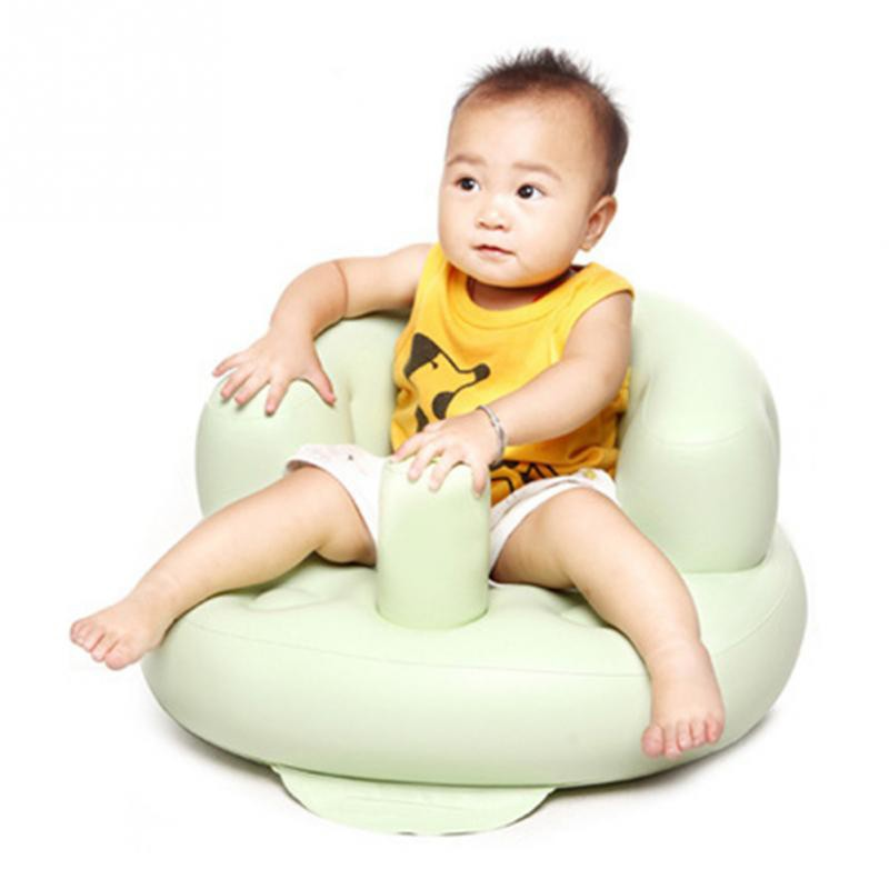 Inflatable Portable  Baby Chair Inflated Bath Room Stools Children Seat Kids Learn To Sit Play Games Bath Sofa Free Shipping (3)