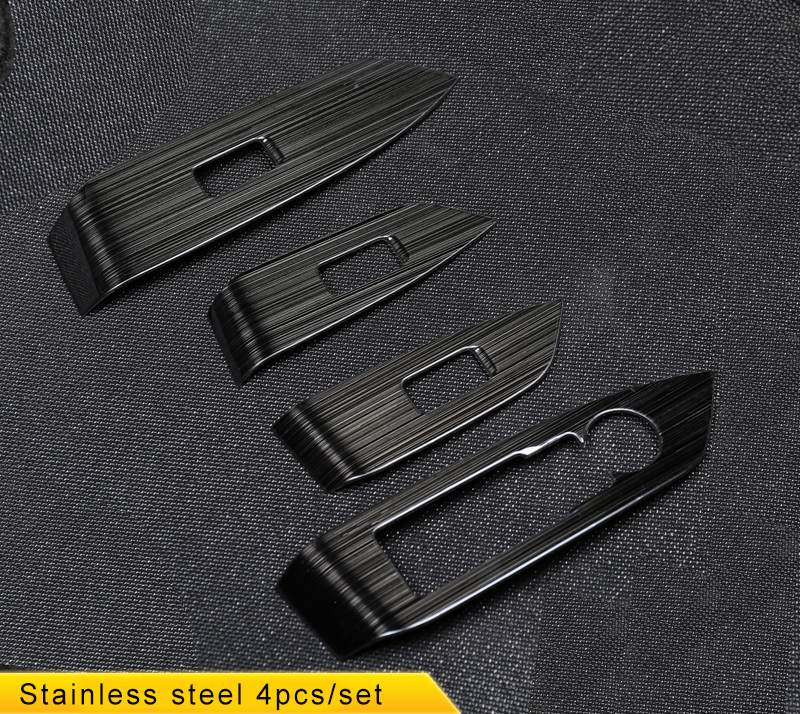 Kouvi black Stainless Steel door handle holder window control switch panel cover trim for 2017 2018 Mazda CX-5 CX5 CX 5 комплект чехлов на весь салон seintex 86153 для mazda cx5 drive direct black