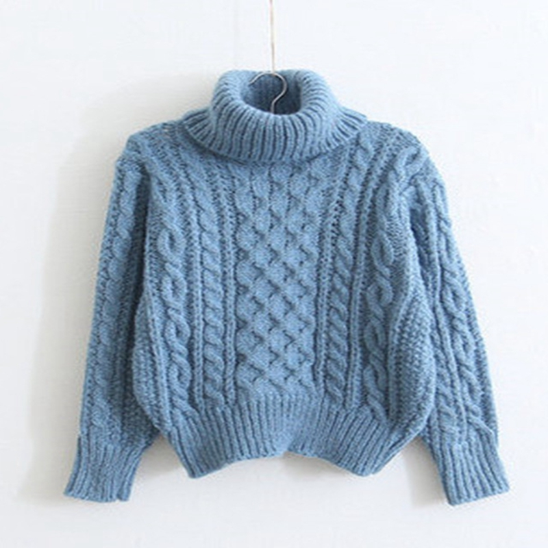 Autumn Winter Women Turtleneck Sweater Wool Loose Pullover Women Sweaters  And Pullovers Fashion Ladies Jumpers Winter Trui-in Pullovers from Women s  ... e39b3f6ec
