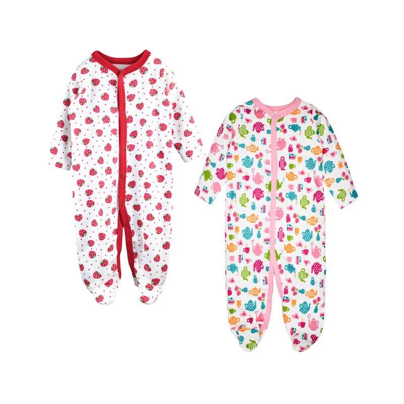 0064b0927c4b Dropwow 2 pcs   lot Baby Romper Long Sleeves 100% Cotton Comfortable ...
