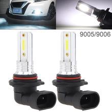 2pcs 12V  9005 9006 COB SMD Lights 1200LM 6500K-7500K White Driving Running Car Lamp Auto Light Bulbs Fog for Vehicle