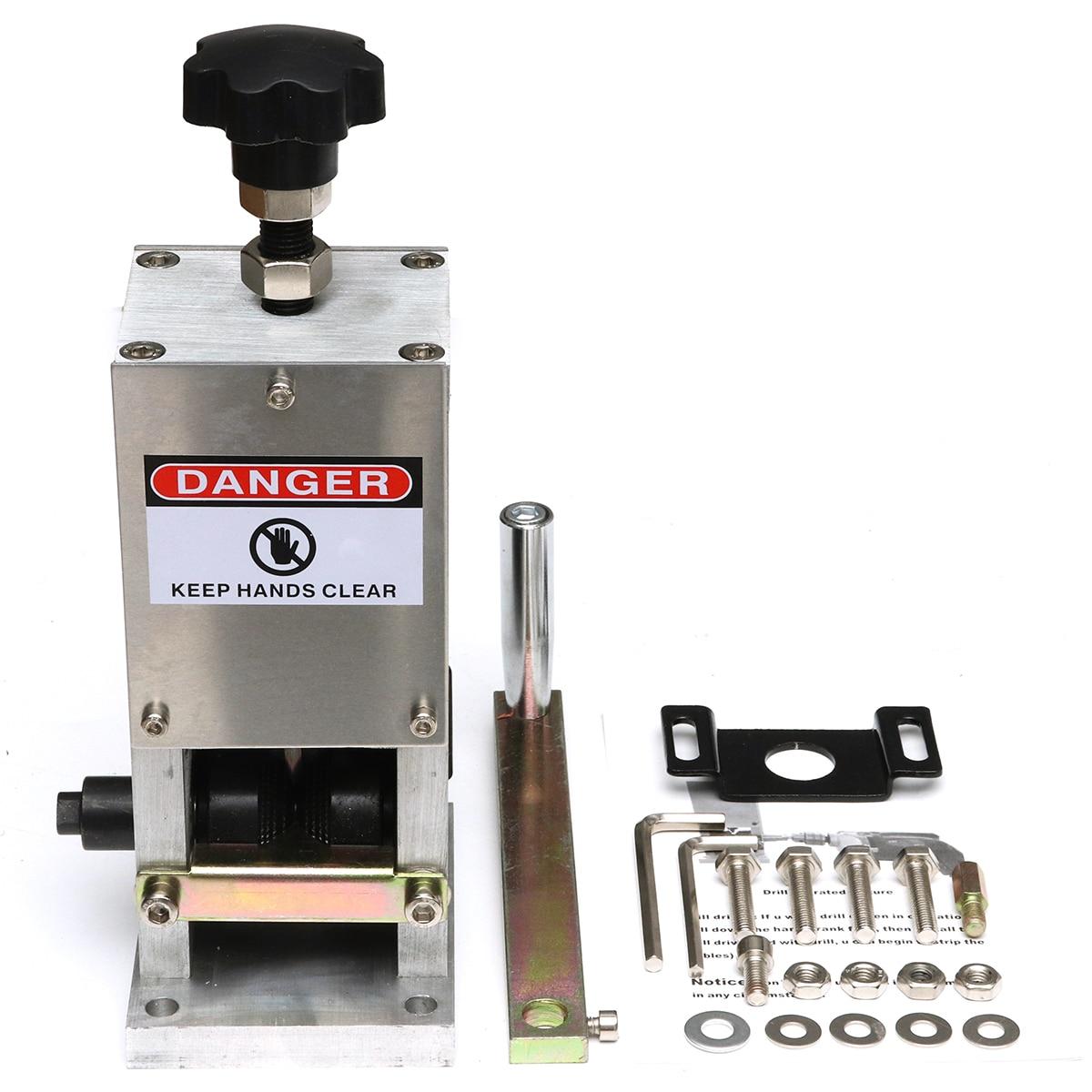 Универсальный Руководство для обжима кабеля и пилинг машины для металлической проволоки recycle жильный кабель зачистки