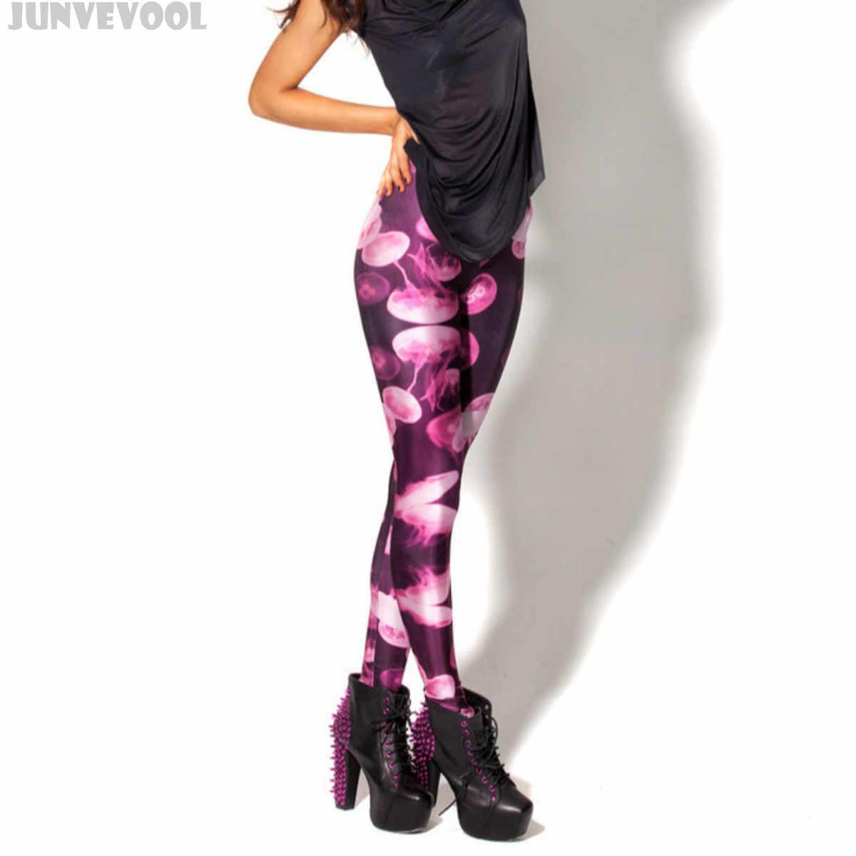 4ca0a6a4a9903 Neon Leggings Pink Pants Plus Size 3XL 4XL Women Slim Slim Trousers Women's  Fitness Sea Animal