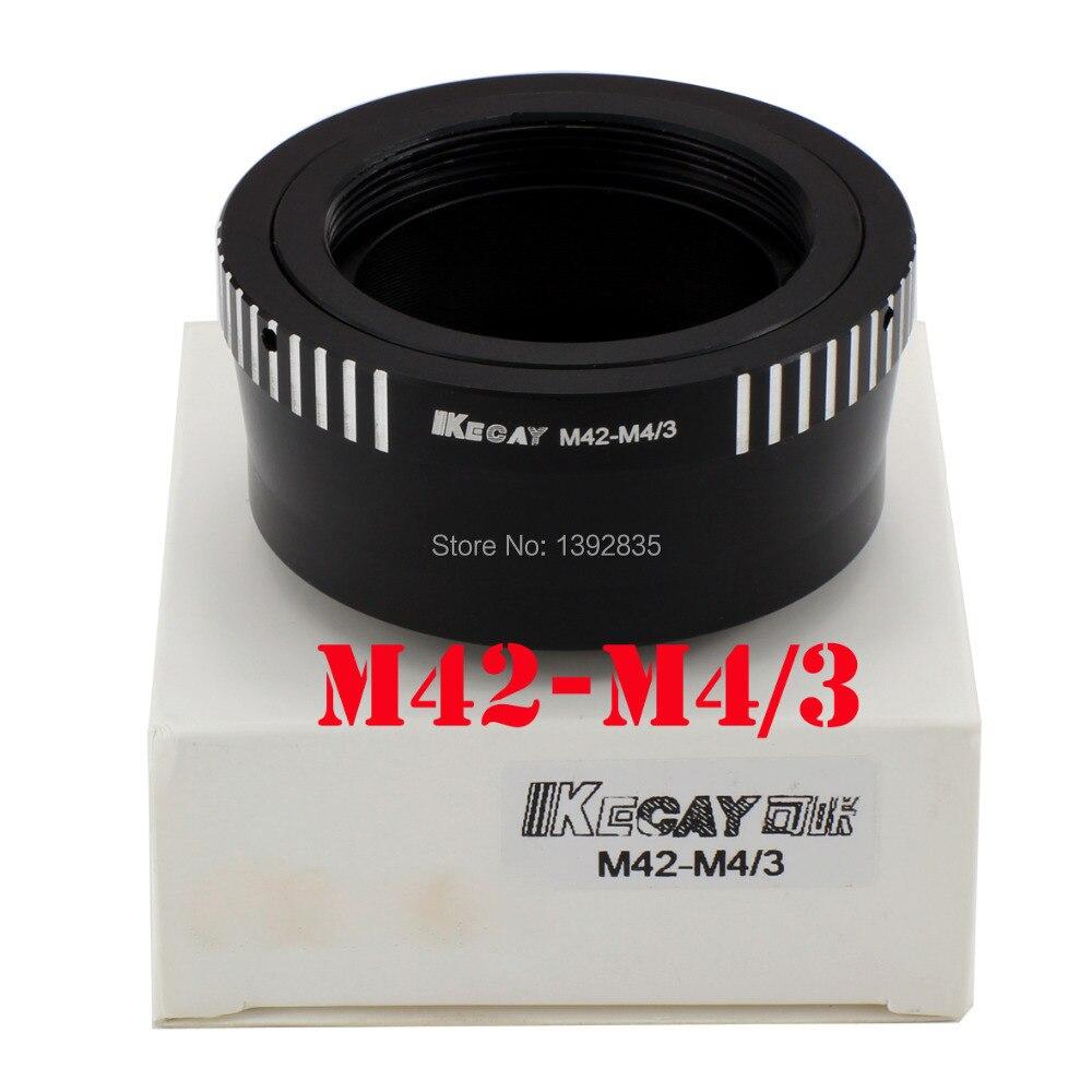 Kecay M42-M4/3 adaptador M42 lente para micro 4/3 adaptador de montaje GF1 GF2 GF3 G2 G3 GH2 e-P3 P2 PL3 PM1-Black + astilla