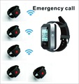 1 watch wrist pager+5 watch wrist call for waiter call/ guest call/ nurse emergency pager ,wireless calling system