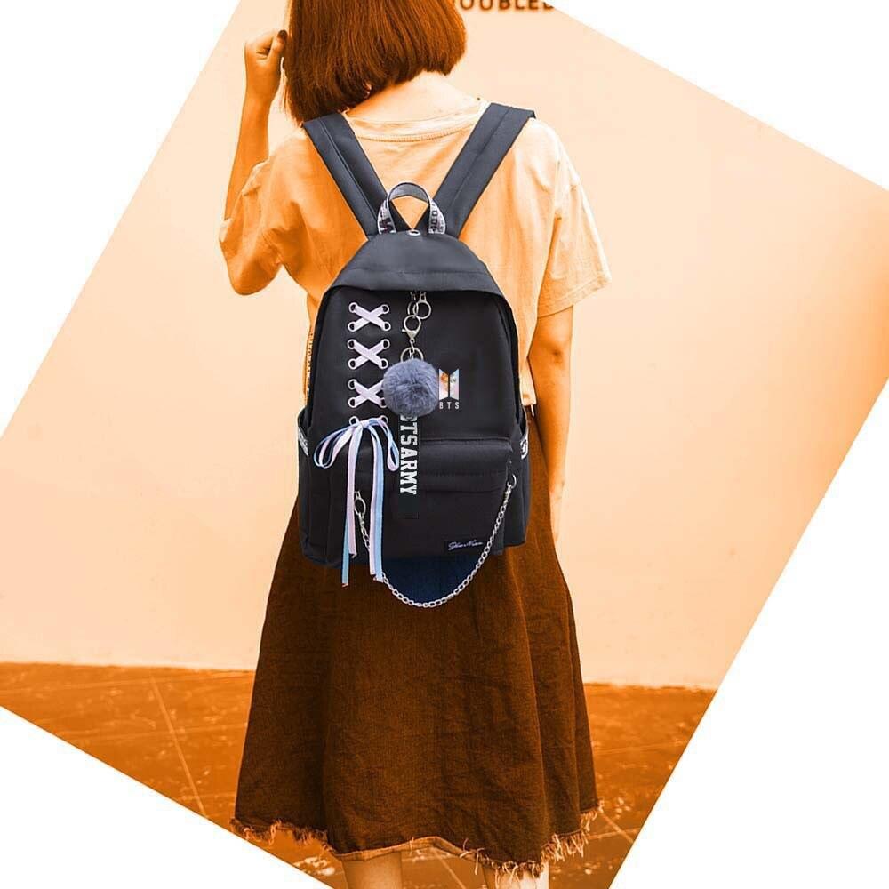 Luggage & Bags Backpacks New Bts Bangtan Boys Love Yourself Answer Jungkook Jimin Same Students Cool Shopping Travel Bag Backpack Harajuku Canvas Bag
