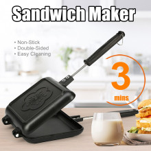 Двухсторонняя антипригарная Бутербродница хлеб тост машина для завтрака вафли блинчики для выпечки барбекю форма для печи сковорода гриль