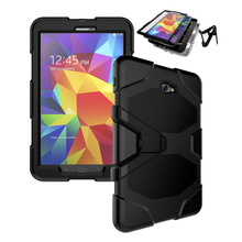 Volledige beschermende armor case voor samsung galaxy tab a 10.1 t580/tab e 9.6 t560 hybrid pc siliconen cover 20 stks/partij