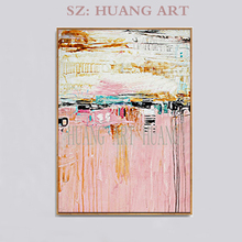Hand painted canvas oil painting Red Abstract wall art paintings for living room Canvas Painting Pictures