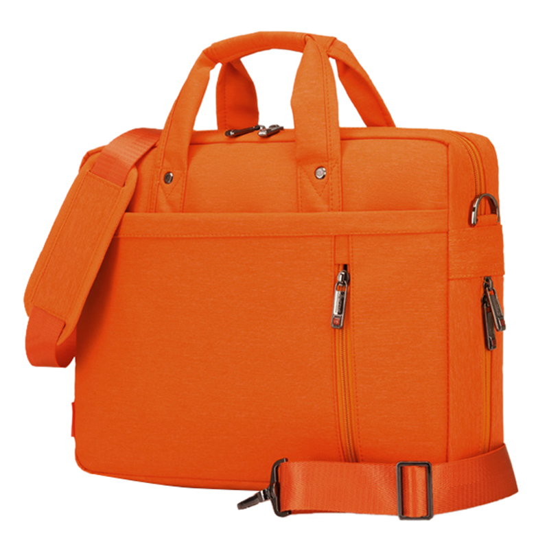 JIQUANMEI Laptop bag 13 inch Shockproof airbag waterproof computer bag men and women luxury thick Notebook bag Orange
