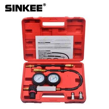 Probador de fugas de cilindro, Kit de Detector de fugas de compresión, herramienta de calibre de motor de gasolina, sistema de doble calibre, herramientas de automóvil SK1015