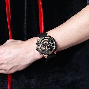 Image 5 - Megir 쿼츠 시계 남성 로즈 골드 방수 스포츠 시계 시계 크로노 그래프 손목 시계 erkek kol saati montre homme