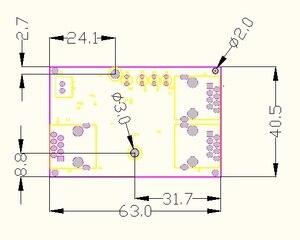 Image 5 - 工業用グレードワイド温度低消費電力ネットワークケーブルミニミニイーサネット 3 ポート 10/100 Mbps 垂直 180 degreeswitchmodule