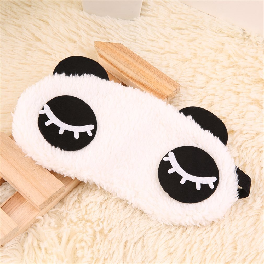 Cool Cute Design Plush Panda Face Eye Travel Sleeping Soft Mask Blindfold Shade Eyeshade Portable Cover