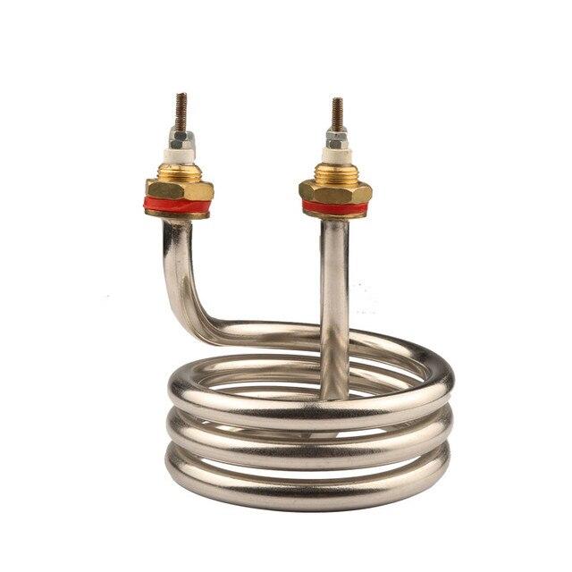 عنصر تسخين المياه Isuotuo للميكانيكية المقطر ، عنصر سخان أنبوبي الغمر ، أنبوب سخان حلزوني من الفولاذ المقاوم للصدأ