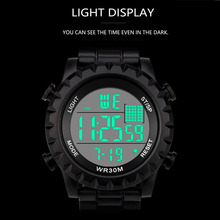 Sports Casual LED Watch Retro Digital Display Date Unisex Males Quartz Electronics Men Clock Wristwatch Relogio Masculino