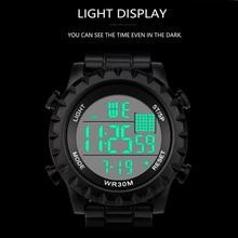 цена на Sports Casual LED Watch Retro Digital Display Date Unisex Males Quartz Watch Electronics Men Clock Wristwatch Relogio Masculino