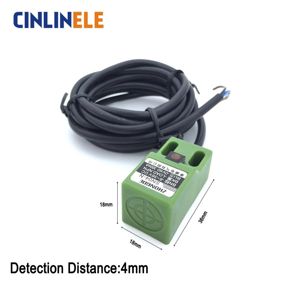 Free Shipping Sensor Square Shell Induction Metal Inductive Screen Proximity Switch Wiring 4mm Sensing Sn04 Cube Iron Type Led No Nc