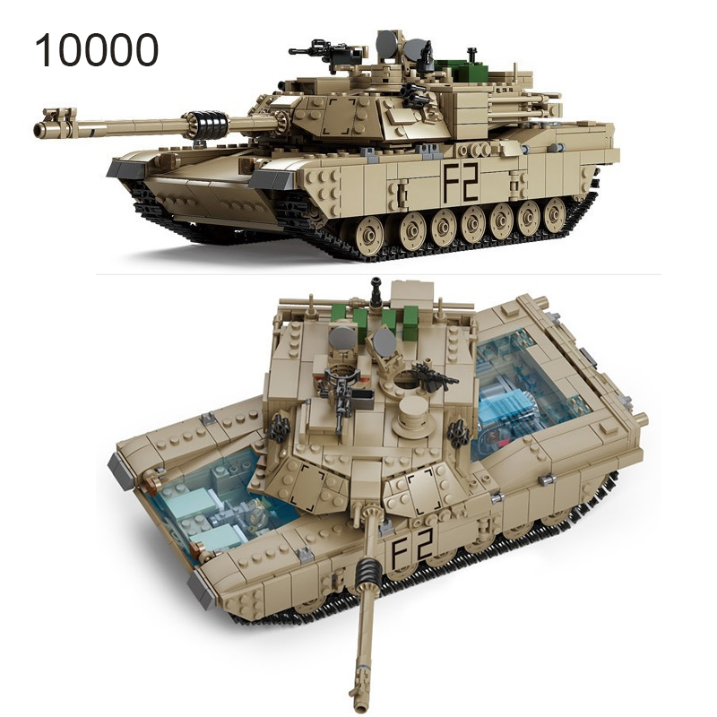 Technic Enlighten Toys Military Gun Weapon ABRAMS Tank Model Building Blocks Compatible Bricks Toys World Wars