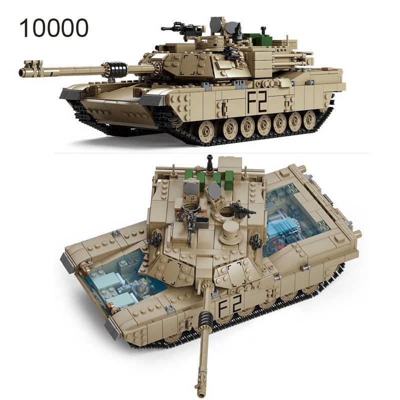 Technic Enlighten Toys Military Gun Weapon ABRAMS Tank Model Building Blocks Compatible Bricks Toys World Wars Kids Toys