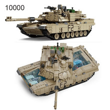 Technic Enlighten Toys Military Gun Weapon ABRAMS Tank Model Building Blocks Compatible Bricks Toys World Wars Kids Toys(China)