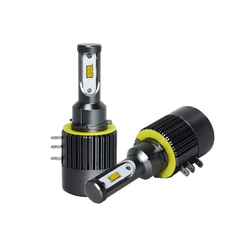 JGAUT V7S LED voiture phare CSP H15 Turbo 7200lm 60 W Auto ampoule Micro haute vitesse ventilateur KIT avant ampoule Automobiles lumière principale